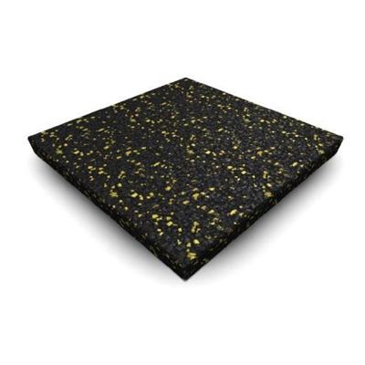 Sportovní podlaha SPECKLED 1000x1000x20mm, žlutá