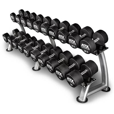 Sada jednoručních činek ATX LINE, urethan 5-50 kg - 19 párů