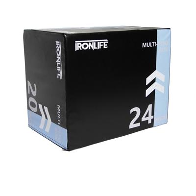 Plyometrický pěnový blok IRONLIFE Soft Plyo Box 70 x 60 x 50 cm, černý