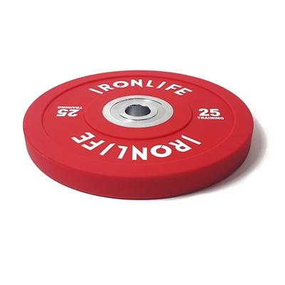 Urethanový kotouč IRONLIFE Bumper Competition 25 kg, červený