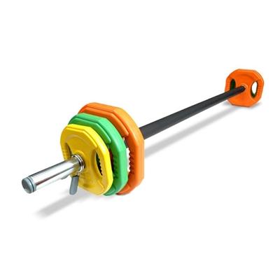 IRONLIFE Rubber Body Pump Barbell Set, 20 kg