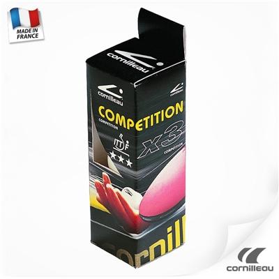 Míčky na stolní tenis CORNILLEAU Competition ITTF 40mm bílý