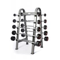 Sada bicepsových pogumovaných činek Jordan Fitness 10 - 45 kg + stojan 2