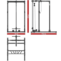 Power Rack 650 ATX LINE s horní kladkou - výška 218 cm 8