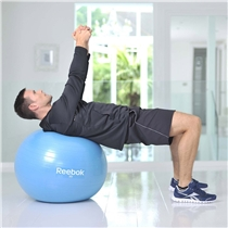 gymnasticky mic - gymball - cviky - bricho a zada
