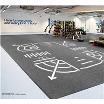 podlaha od fitness studia sportec